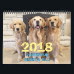 """2018 ParkerPup Calendar<br><div class=""""desc"""">Celebrate the entire year with Parker,  Reser and puppy-Gill! How can anyone resist these faces. They will make you smile,  laugh,  and help remind you of important events in your life. Good dogs!</div>"""