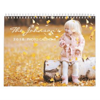 2018 Personalized Calendar