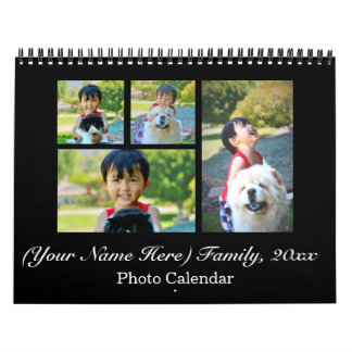 2018 Personalized Custom Photo Collage Calendar