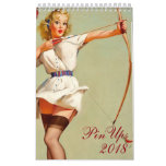 2018 Pin Up Girls Calendar One Page