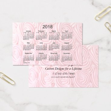 Beach Themed 2018 Pink Frosting Calendar by Janz Oceania Card