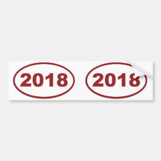2018 red maroon bumper sticker
