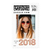 2018 Rose Gold Graduation Stamp