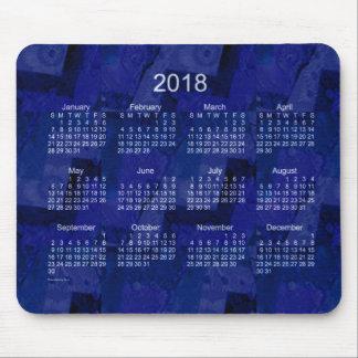 2018 Royal Blue Patchwork Calendar by Janz Mouse Pad
