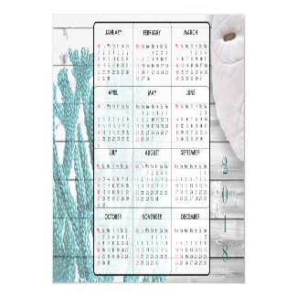 2018 Sand Dollar & Coral Mini Magnet Calendars