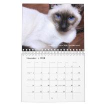2018 Siamese Royalty Calendar