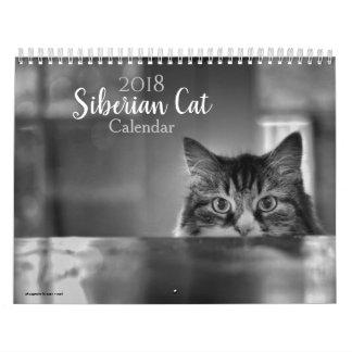 2018 Siberian Cat Calendar