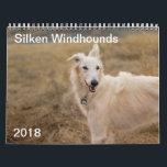 "2018 Silken Windhounds (Full body) 3 Calendar<br><div class=""desc"">2018 Silken Windhounds (Full body)</div>"