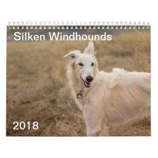 2018 Silken Windhounds (Full body) 3 Calendar