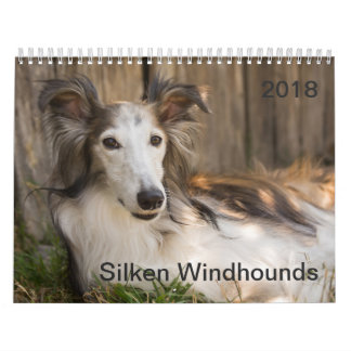 2018 Silken Windhounds (Reclining) Calendar