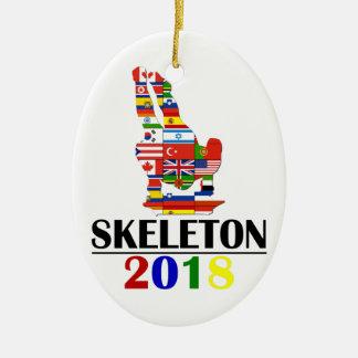 2018 SKELETON CERAMIC ORNAMENT