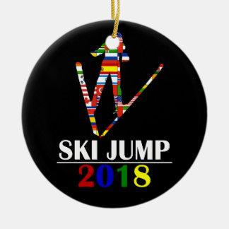 2018 SKI JUMP CERAMIC ORNAMENT