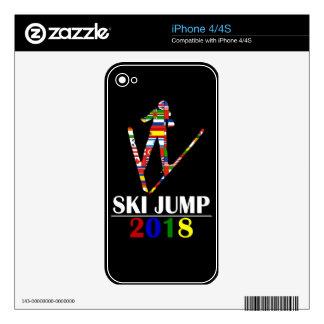 2018 SKI JUMP iPhone 4 SKINS