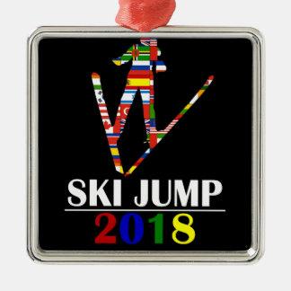 2018 SKI JUMP METAL ORNAMENT