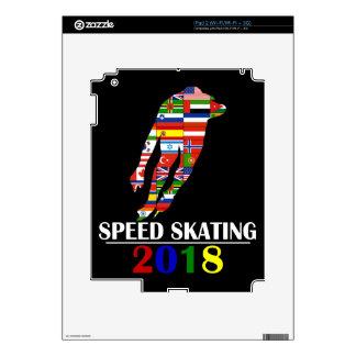 2018 SPEED SKATING iPad 2 DECAL