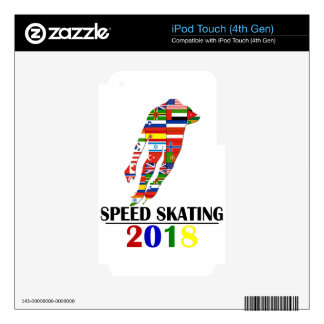 2018 SPEED SKATING SKIN FOR iPod TOUCH 4G