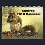 "2018 Squirrel Calendar<br><div class=""desc"">This 2018 wall calendar feature is Squirrel photography.</div>"