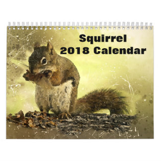 2018 Squirrel Calendar