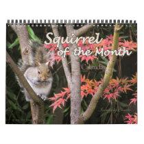 2018 Squirrel Wall Calendar