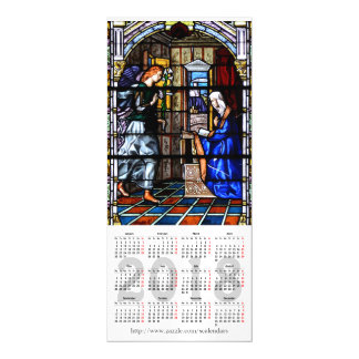 2018 stained glass calendar magnetic card