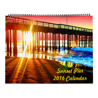 2018 Sunset Pier Wall Calendar