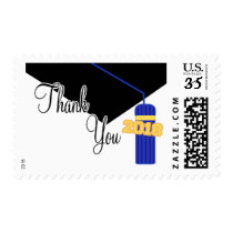 2018 Thank You (Blue Graduation Cap And Tassel) Postage