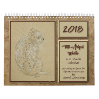 2018 The Artful Westie 12 Month Calendar by Borgo