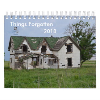 2018 Things Forgotten Calendar