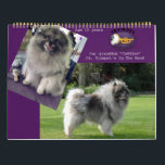 """2018 Trumpet Keeshond Calendar<br><div class=""""desc"""">Photos taken of Keeshond with seasonal backgrounds to match the time of year. Calendar also features the litters of the previous year at Trumpet.</div>"""