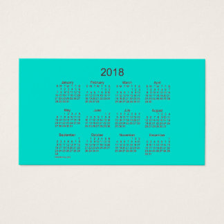 2018 Turquoise Calendar by Janz Business Card