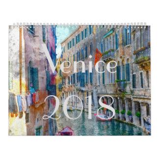 2018 Venice Italy Art Watercolor Calendar