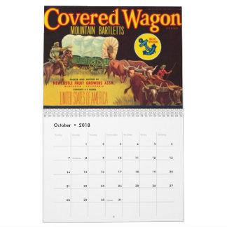 2018, Vintage, Crate Label Calendar