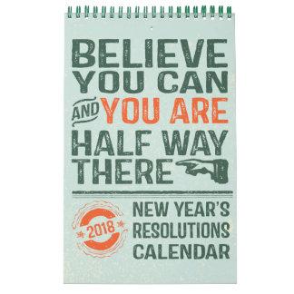 2018 Vintage Personalised Resolutions Calendar