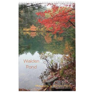 2018  Walden Pond: one page 11 x17 size Calendar