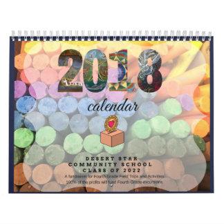 2018 Waldorf Inspired Chalkboard Art Calendar