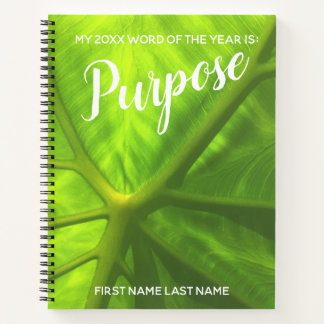 2018 Word of the Year Purpose Elephant Ear Photo Notebook