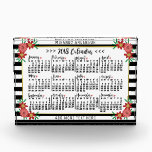 """2018 Year Calendar Trendy Floral Stripes 