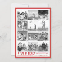 2018 Year in Review 12 Photo Collage Holiday Card