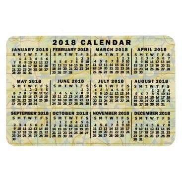 Professional Business 2018 Year Monthly Calendar Antique Map Large Print Magnet
