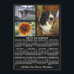"2018 Year Monthly Calendar Black Custom 3 Photos<br><div class=""desc"">LOOKING FOR THE 2019 VERSION OF THIS CALENDAR? Find it in the calendar collection here:                                                         https://www.zazzle.com/collections/2019_calendar_magnets_mousepads_more-119720589707258472     