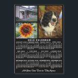 """2018 Year Monthly Calendar Black Custom 3 Photos<br><div class=""""desc"""">LOOKING FOR THE 2019 VERSION OF THIS CALENDAR? Find it in the calendar collection here:                                                         https://www.zazzle.com/collections/2019_calendar_magnets_mousepads_more-119720589707258472     