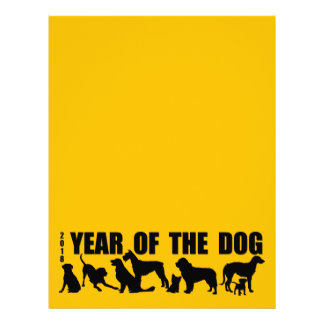 2018 Year of The Dog Yellow Letterhead