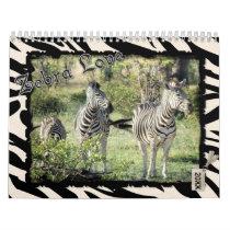 2018 Zebra Love Calendar