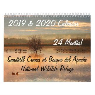 2019/2020 Crane Birds Animals Wildlife Refuge Calendar