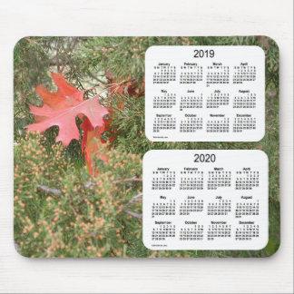 2019-2020 Oak Leaf 2 Year Calendar by Janz Mouse Pad