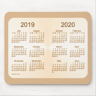 2019-2020 School Year Sun Tan Calendar by Janz Mouse Pad