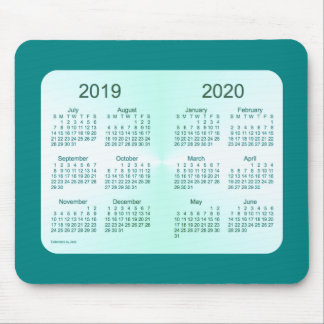 2019-2020 School Year Teal Calendar by Janz Mouse Pads