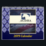 """2019 ACDHA Calendar<br><div class=""""desc"""">12 months of frame-able pictures of American Cream Draft Horses. The money earned from the sales of this calendar helps with the efforts of those involved in keeping these beautiful horses from extinction.</div>"""