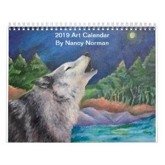 2019 Art Calendar by Nancy Norman