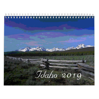 2019 Artistic Idaho scenic calendar